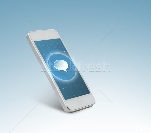 Witte bericht icon scherm technologie communicatie Stockfoto © dolgachov