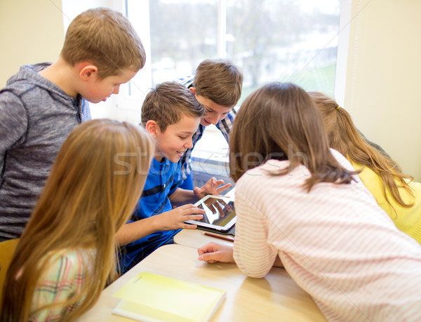 Foto stock: Grupo · escuela · ninos · aula · educación