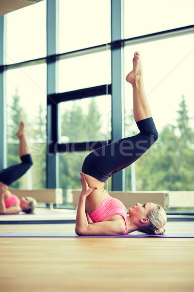 Stok fotoğraf: Kadın · spor · salonu · uygunluk · spor · eğitim · insanlar