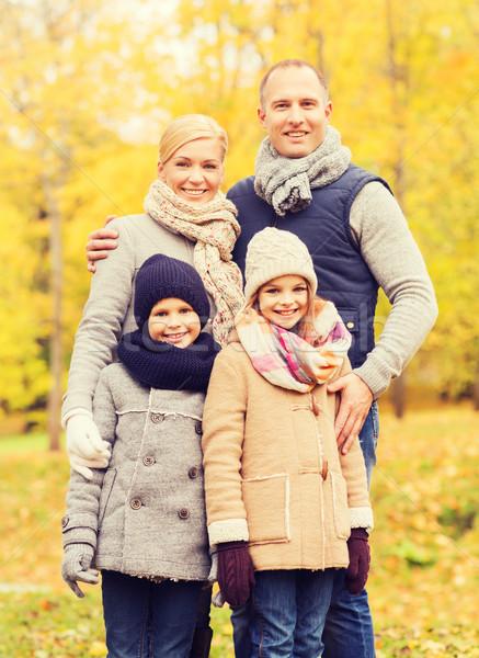 Photo stock: Famille · heureuse · automne · parc · famille · enfance · saison