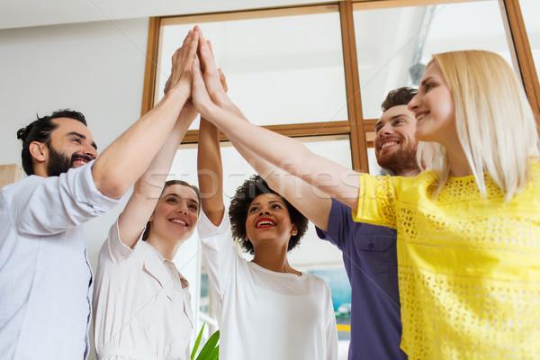 Boldog kreatív csapat iroda üzlet startup Stock fotó © dolgachov