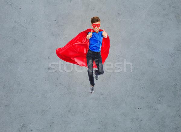 少年 スーパーヒーロー マスク 幸福 ストックフォト © dolgachov