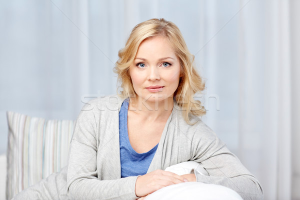 middle aged woman at home Stock photo © dolgachov