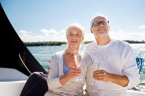 眼鏡 帆 ボート ヨット セーリング ストックフォト © dolgachov