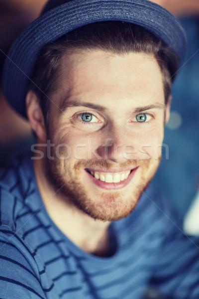 幸せ 若い男 ヒップスター 帽子 人 レジャー ストックフォト © dolgachov
