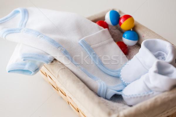 Bebek elbise erkek sepet Stok fotoğraf © dolgachov