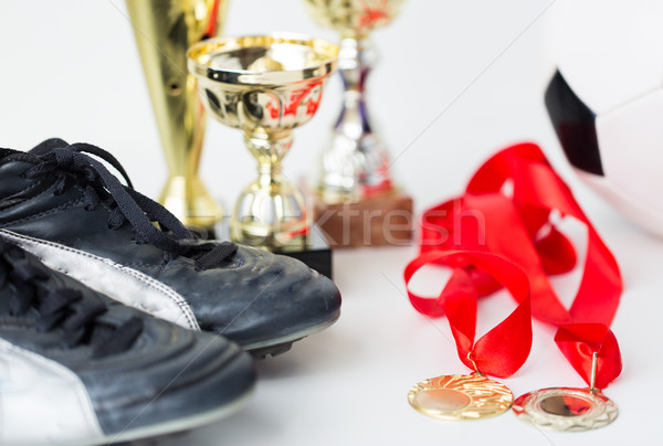 Football bottes sport Photo stock © dolgachov