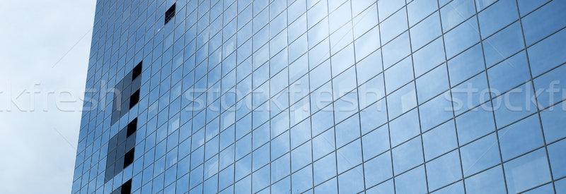 Közelkép irodaház város építészet külső üzlet Stock fotó © dolgachov