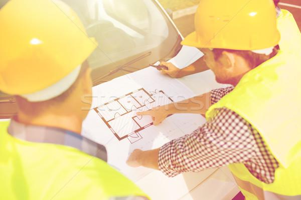 Construtores diagrama carro edifício construção Foto stock © dolgachov