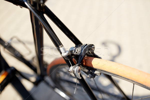 close up of fixed gear bicycle on street Stock photo © dolgachov