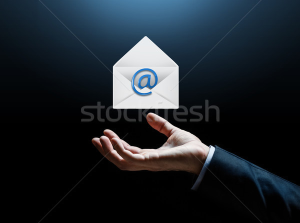 close up of businessman hand Stock photo © dolgachov