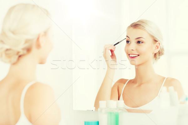 女性 ブラシ 眉 化粧 バス 美 ストックフォト © dolgachov