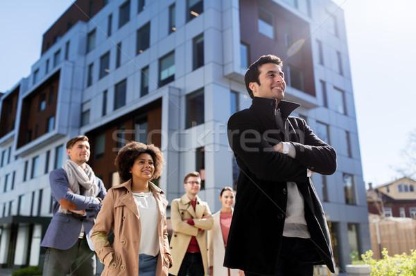 Nemzetközi csoportkép figyelmeztetés üzlet oktatás vállalati Stock fotó © dolgachov