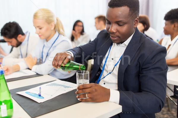 ビジネスマン 飲料水 ビジネス 会議 ビジネスの方々  渇き ストックフォト © dolgachov