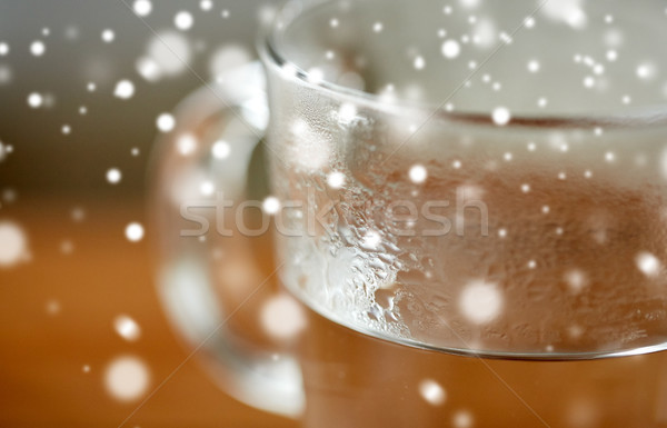 close up of glass with hot water Stock photo © dolgachov