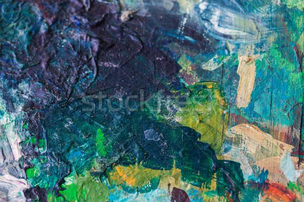 Colorido pintura arte criatividade abstrato Foto stock © dolgachov