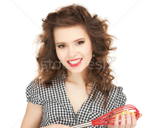 lovely housewife Stock photo © dolgachov