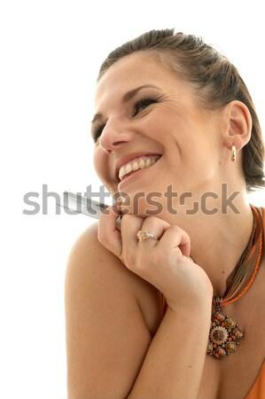 happy consumer Stock photo © dolgachov