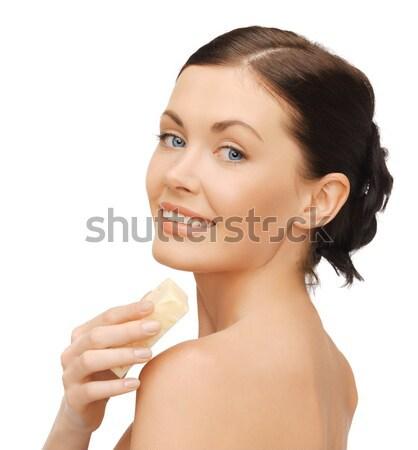 woman with soap Stock photo © dolgachov