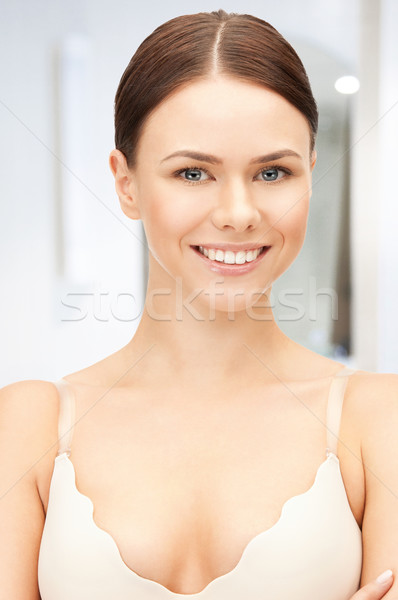 Güzel bir kadın sutyen parlak portre resim Stok fotoğraf © dolgachov