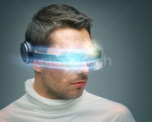 человека цифровой очки будущем технологий научная фантастика Сток-фото © dolgachov