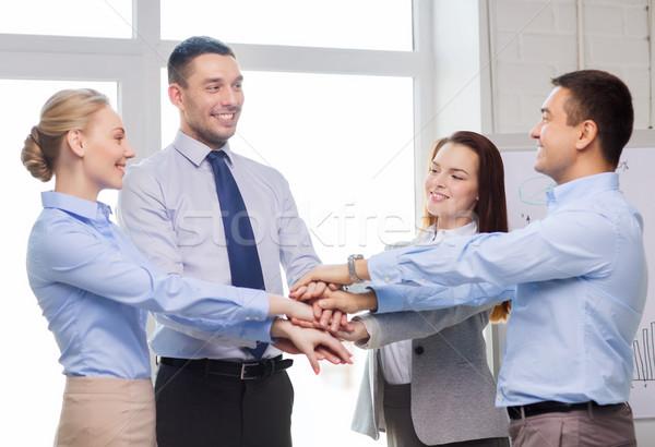 Foto stock: Equipo · de · negocios · victoria · oficina · éxito · negocios