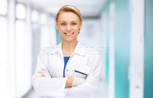 attractive female doctor in hospital Stock photo © dolgachov