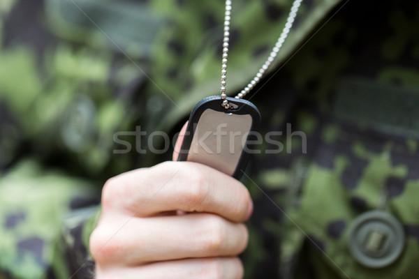 小さな 兵士 軍服 戦争 軍 ストックフォト © dolgachov