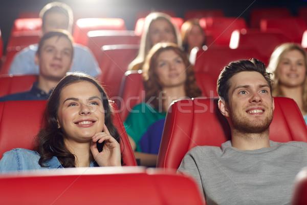 Boldog barátok néz film színház mozi Stock fotó © dolgachov
