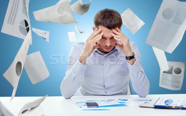 Empresário documentos pessoas de negócios estresse Foto stock © dolgachov