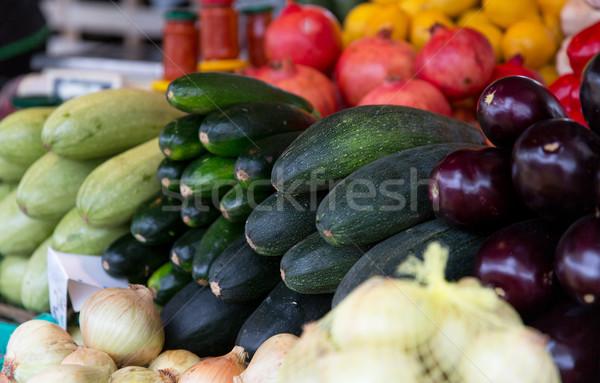 Közelkép fallabda utca gazdák piac vásár Stock fotó © dolgachov