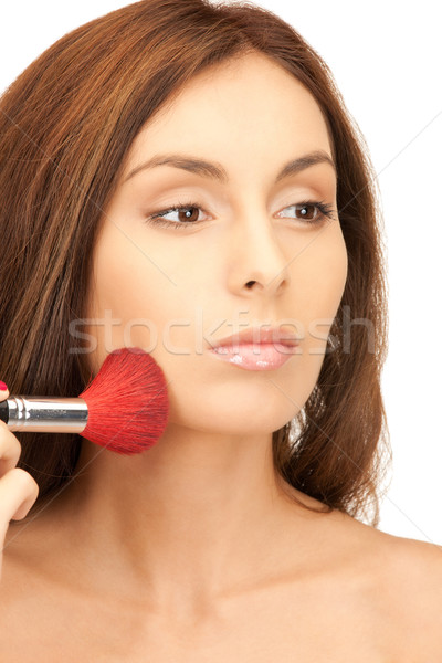 Stock photo: lovely woman with brush