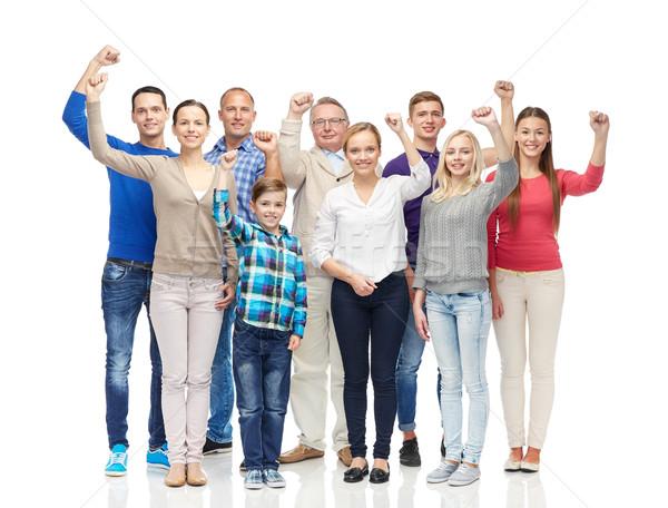 Gruppo persone felici famiglia genere generazione Foto d'archivio © dolgachov