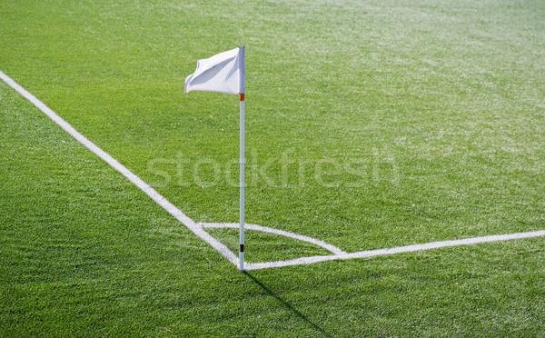 Közelkép futballpálya sarok zászló jelző sport Stock fotó © dolgachov