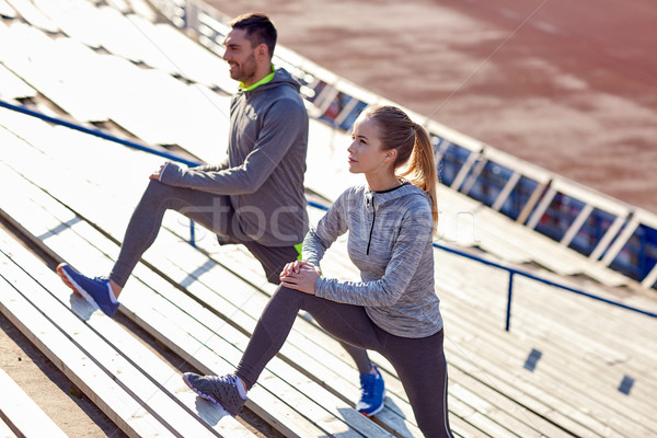 пару ногу стадион фитнес спорт Сток-фото © dolgachov