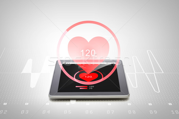 Ordinateur fréquence cardiaque médecine Photo stock © dolgachov