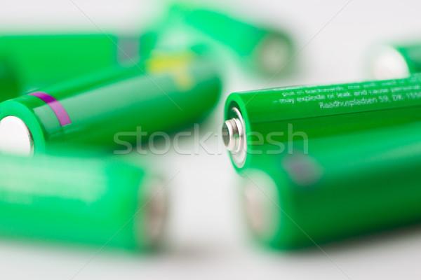 Groene batterijen recycling energie macht Stockfoto © dolgachov