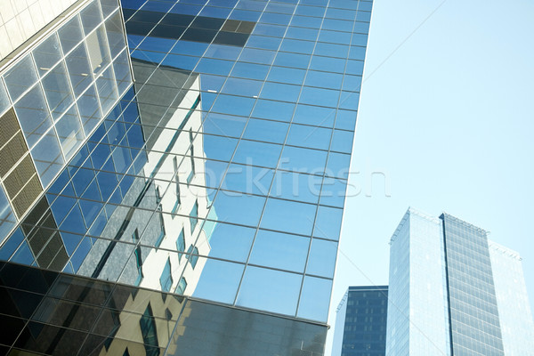 close up of office building or skyscraper and sky Stock photo © dolgachov