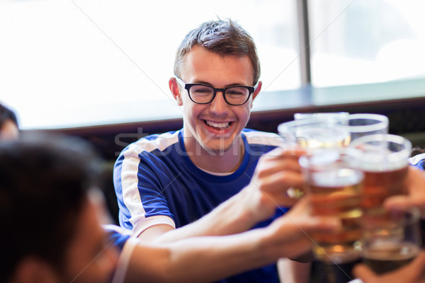 Stock fotó: Futball · szurkolók · sör · szemüveg · sport · bár