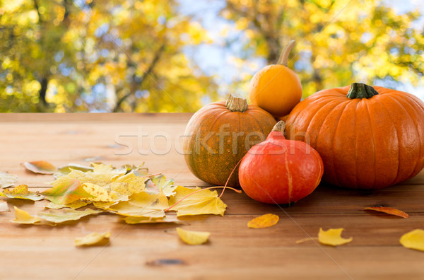 деревянный стол улице урожай сезон Сток-фото © dolgachov
