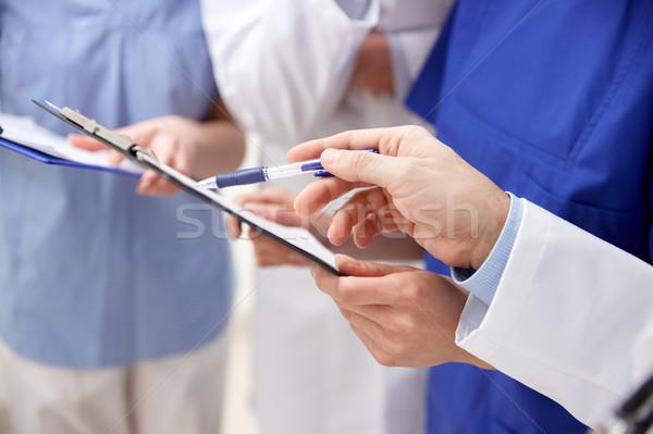 Doktorlar hastane klinik meslek Stok fotoğraf © dolgachov