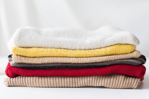 örgü elbise çamaşırhane giyim Stok fotoğraf © dolgachov
