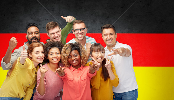 international people gesturing over german flag Stock photo © dolgachov
