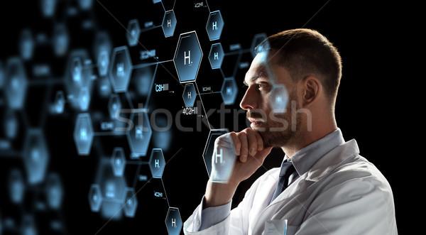 科学 見える 化学 式 投影 化学 ストックフォト © dolgachov