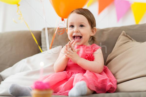 Stok fotoğraf: Mutlu · doğum · günü · partisi · ev · çocukluk · insanlar