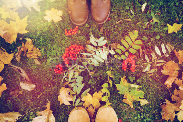 ног сапогах сезон люди пару Сток-фото © dolgachov