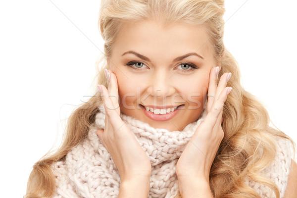 美人 マフラー 明るい 画像 女性 幸せ ストックフォト © dolgachov