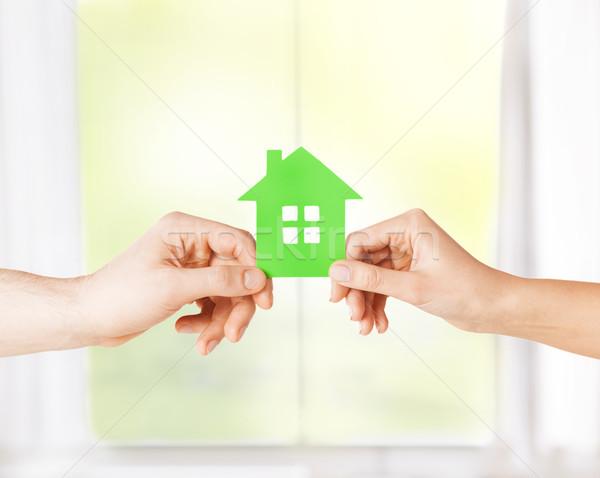 пару рук теплица фотография Сток-фото © dolgachov