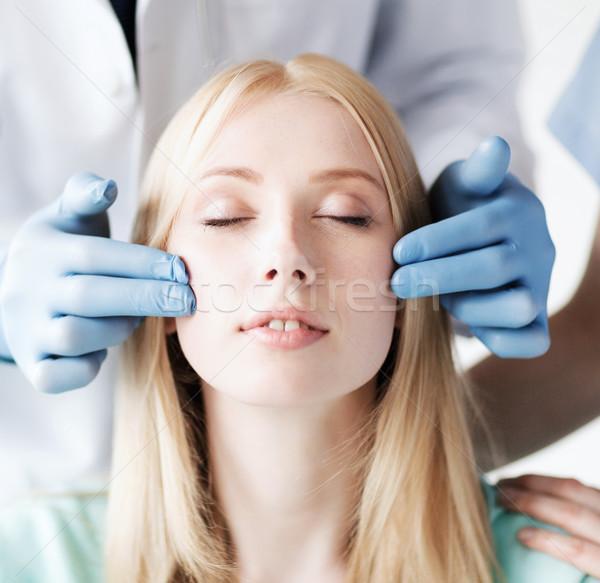 Műanyag sebész nővér beteg egészségügy orvosi Stock fotó © dolgachov