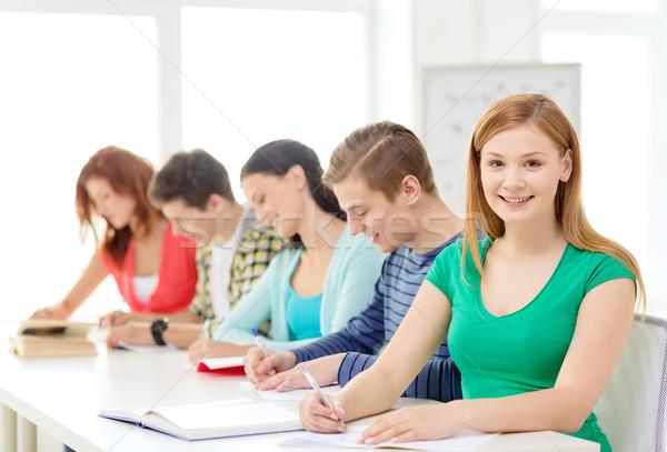Estudantes livros didáticos livros escolas educação cinco Foto stock © dolgachov